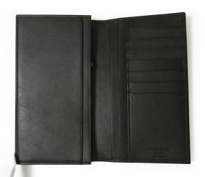 No.5 長財布 ジョルジオアルマーニ メンズ 二つ折 (ブラック)
