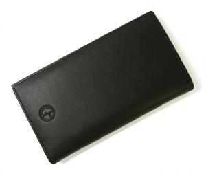 No.6 長財布 ジョルジオアルマーニ メンズ 二つ折 (ブラック)