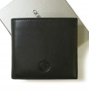 アルマーニ 財布 ジョルジオアルマーニ メンズ 二つ折 (ブラック) MainPhoto