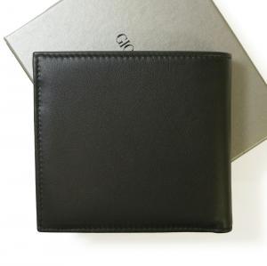 No.2 財布 ジョルジオアルマーニ メンズ 二つ折 (ブラック)