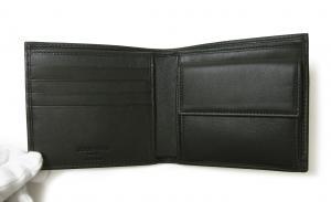 No.4 財布 ジョルジオアルマーニ メンズ 二つ折 (ブラック)