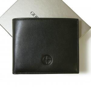 アルマーニ 財布 札入れ ジョルジオアルマーニ メンズ 二つ折(ブラック)*小銭入れなし MainPhoto