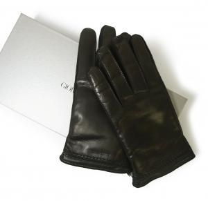 ジョルジオアルマーニ 手袋 グローブ Lサイズ  レザー 羊革 ラムスキン ナッパ