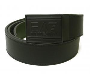 アルマーニ ベルト リバーシブル (ブラック×フォレストナイト) 長さ調整可能 EA7