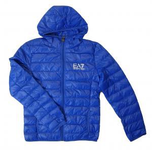 エンポリオアルマーニ ダウン ジャケット フード ライトダウン Lサイズ  EA7 (ロイヤルブルー)