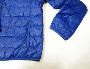 No.5 ダウン ジャケット フード ライトダウン Lサイズ エンポリオアルマーニ EA7 (ロイヤルブルー)