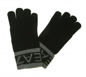 アルマーニジーンズ 手袋 グローブ ニット EA7  (ブラック)