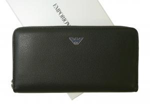 アルマーニ 長財布 ラウンドファスナー(ブラック) エンポリオアルマーニ
