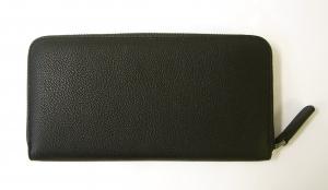 No.2 長財布 メンズ 本革 ジョルジオアルマーニ ラウンド (ブラック)*大きめサイズ