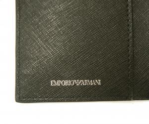 No.5 財布 メンズ 長財布 二つ折 ブラック エンポリオアルマーニ