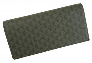 No.8 財布 メンズ 長財布 二つ折 ブラック エンポリオアルマーニ