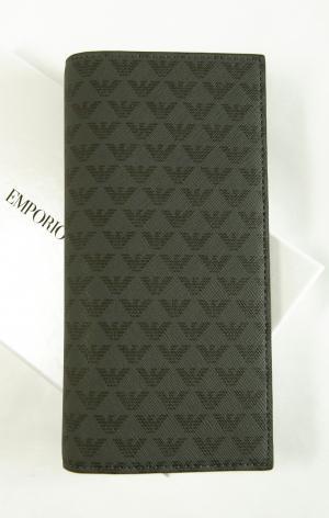 アルマーニ 財布 メンズ 長財布 二つ折 ブラック エンポリオアルマーニ