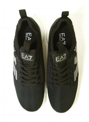 No.4 スニーカー メンズ ブラック トレーニング 軽量 EA7 エンポリオアルマーニ