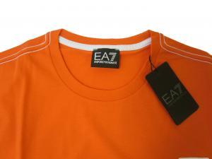 No.3 Tシャツ メンズ オレンジ エンポリオアルマーニ EA7