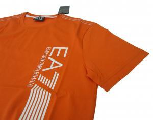 No.4 Tシャツ メンズ オレンジ エンポリオアルマーニ EA7