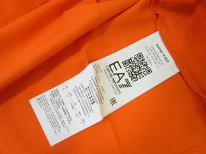 No.6 Tシャツ メンズ オレンジ エンポリオアルマーニ EA7