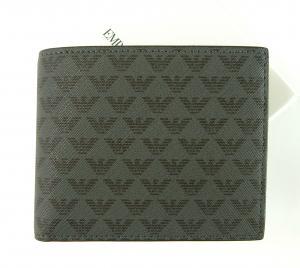 エンポリオアルマーニ 財布 メンズ ブラック 二つ折 ロゴ