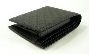 No.3 財布 メンズ ブラック 二つ折 ロゴ エンポリオアルマーニ