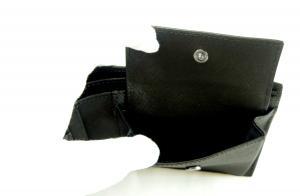 No.8 財布 メンズ ブラック 二つ折 ロゴ エンポリオアルマーニ