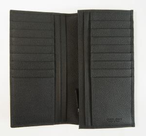 No.3 財布 長財布 メンズ 黒 カード大容量 ジョルジオアルマーニ