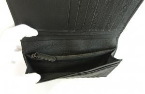 No.4 財布 長財布 メンズ 黒 カード大容量 ジョルジオアルマーニ