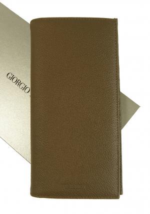 ジョルジオアルマーニ 財布 長財布 メンズ 茶 カード大容量