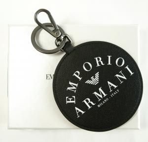 エンポリオアルマーニ キーホルダー キーリング フック ブラック メンズ