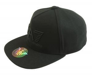 アルマーニ キャップ 帽子 ラッパーハット ベースボール 野球 ゴルフ EA7 黒