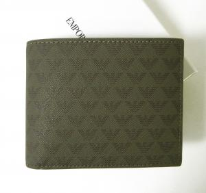 エンポリオアルマーニ 財布 メンズ ミリタリー 二つ折 ロゴ