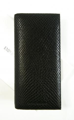 アルマーニ 長財布 メンズ 二つ折 ブラック エンポリオアルマーニ