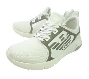 アルマーニ エンポリオアルマーニ EA7 スニーカー メンズ ホワイト シューズ 靴