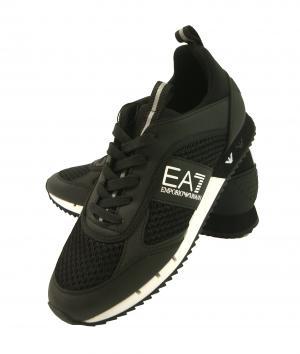 アルマーニ エンポリオアルマーニ EA7 スニーカー メンズ ブラック シューズ 靴