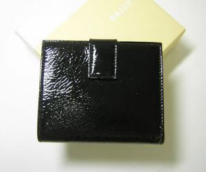 No.2 財布 レディース ブラック エナメル 二つ折 ATENEO/00