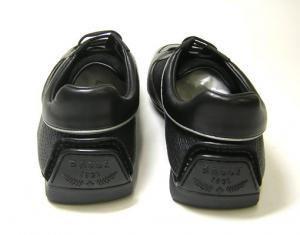 No.4 スニーカー (ブラック) レザー ファブリック OLIVADO/00  8.5サイズ(日本サイズ約27.5cm)