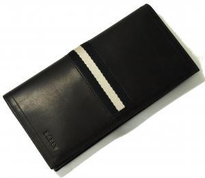 No.7 長財布 二つ折 (ブラック) カーフ *刻印有り TALIRO/290