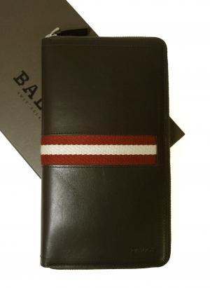 バリー 長財布 ラージ ラウンドファスナー (チョコレート) TEVIN/271 *大きめサイズ