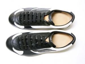 No.2 スニーカー レザー (ブラック) 10(日本サイズ約29cm) YOSHUA/00 靴