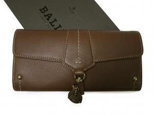 バリー 長財布 レディース 二つ折 カーフ (ブラウン) MAICA-LG/631