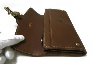 No.7 長財布 レディース 二つ折 カーフ (ブラウン) MAICA-LG/631