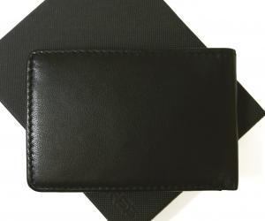 No.2 財布 二つ折  ブラック 海外モデル 日本札は入りません