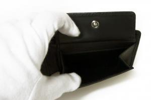 No.6 財布 二つ折  ブラック 海外モデル 日本札は入りません