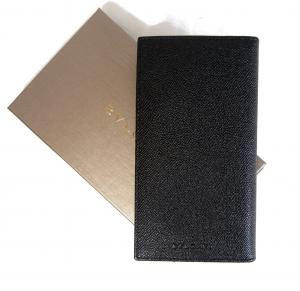 ブルガリ 長財布 メンズ グレインカーフ 二つ折 (ブラック)