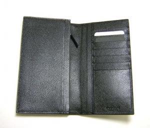 No.3 長財布 メンズ グレインカーフ 二つ折 (ブラック)