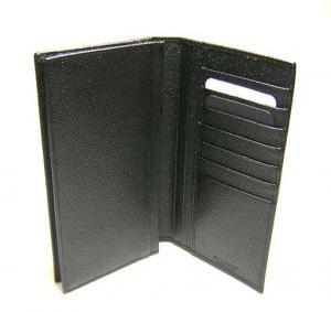 No.4 長財布 メンズ グレインカーフ 二つ折 (ブラック)