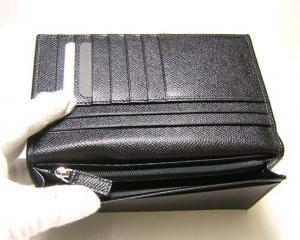 No.5 長財布 メンズ グレインカーフ 二つ折 (ブラック)