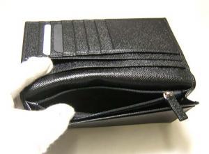 No.6 長財布 メンズ グレインカーフ 二つ折 (ブラック)