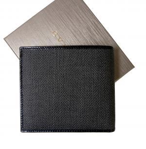 No.2 財布 ウィークエンド メンズ 二つ折 (ブラック/ブラック)