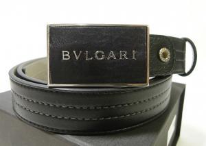 ブルガリ  <訳あり・アウトレット>長さ調整可能 BVLGARI  Plateバックルベルト(ブラック)
