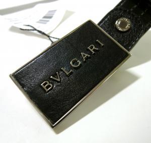 No.2  <訳あり・アウトレット>長さ調整可能 BVLGARI  Plateバックルベルト(ブラック)