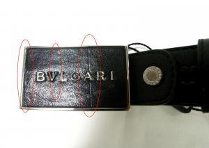 No.6  <訳あり・アウトレット>長さ調整可能 BVLGARI  Plateバックルベルト(ブラック)